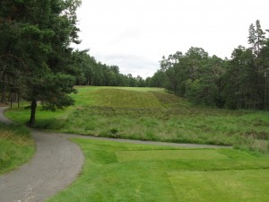 The difficult drive at 10th tee