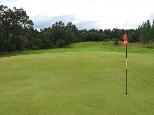 The 17th green - Grantown on Spey