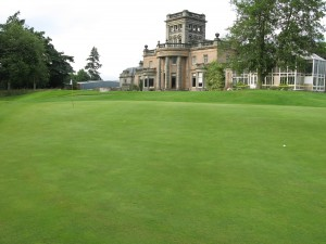 18th Green at Letham with the Grange