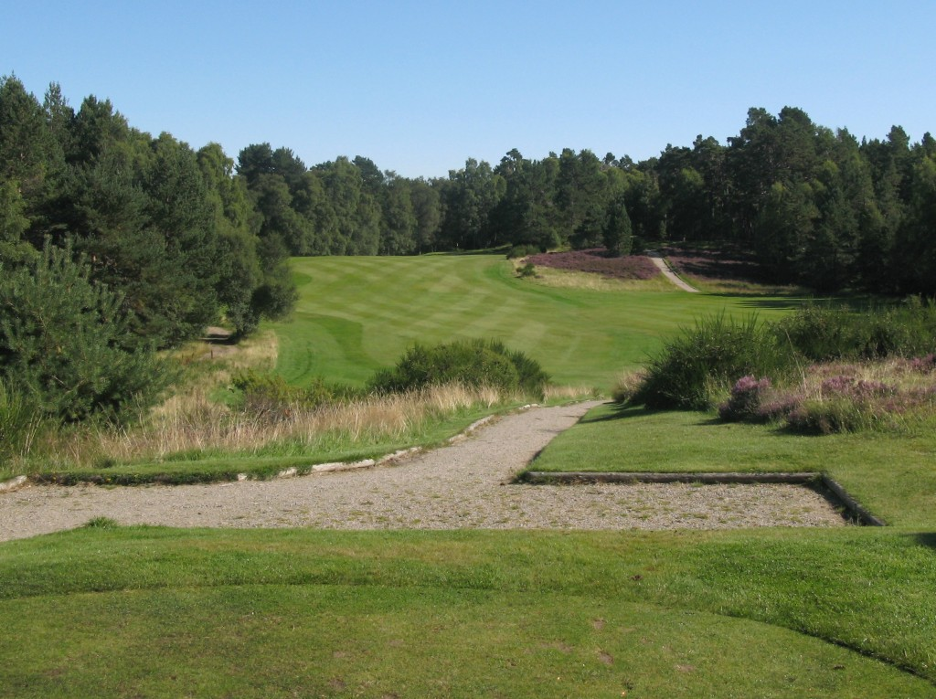 """The beautiful view of the 6th tee at """"nethy"""""""