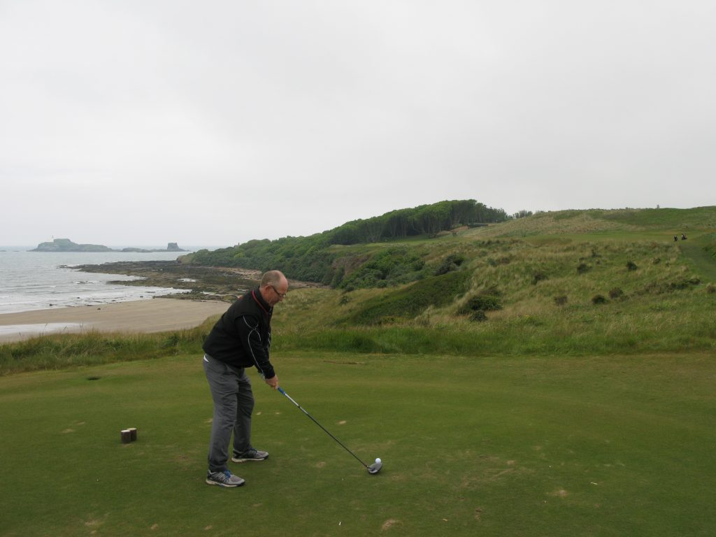 The majestic 10th tee view - I lost a ball into the left cliffs on the one occasion I failed to heed my playing partner's advice!