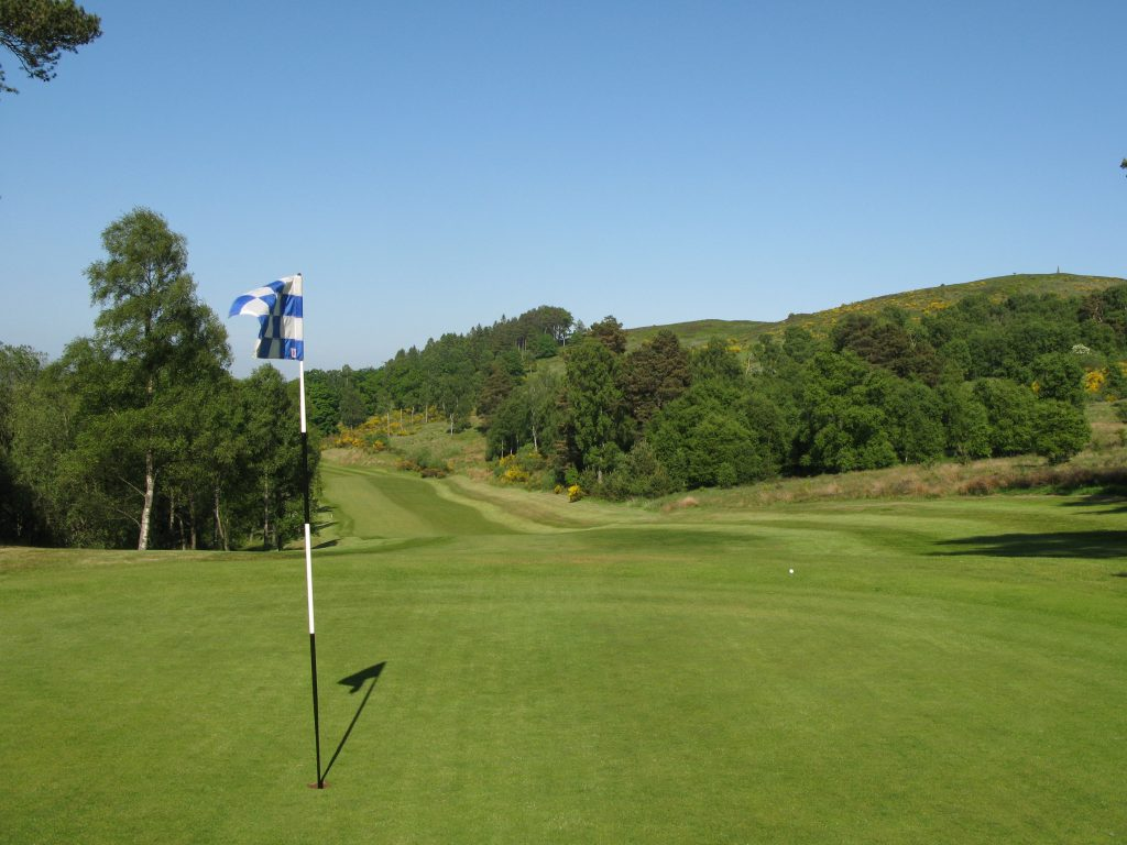 The demanding SI 1, par 5 14th hole on The Lynedoch