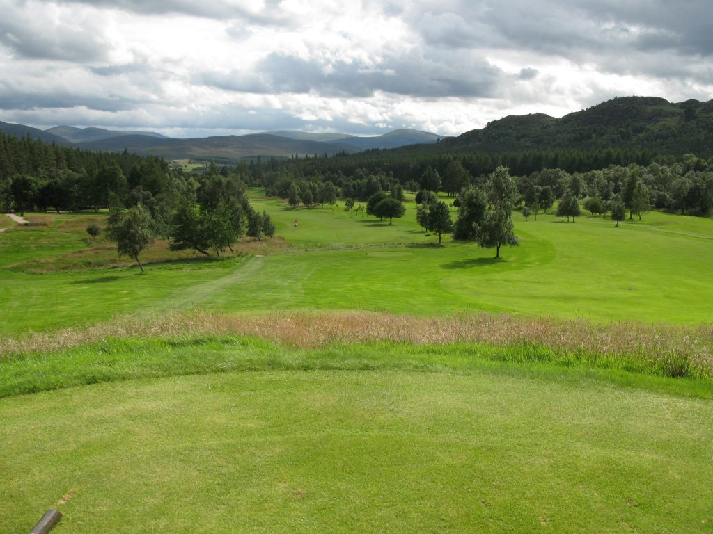 The 17th at Kingussie - Moly scored a 10 - with classic vistas