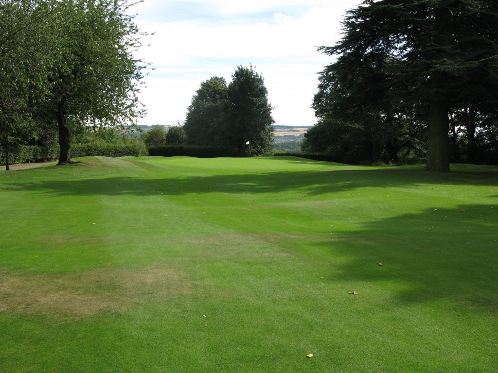 The snuggly placed green at the 4th at Broomieknowe