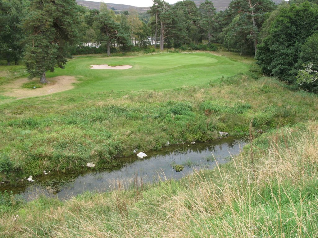The 7th/16th green (here showing the 16th tee view)
