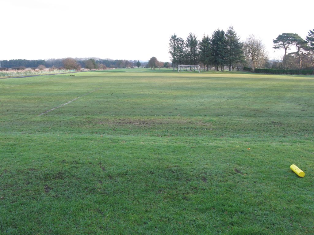 The 2nd fairway at Falkland and football pitch!