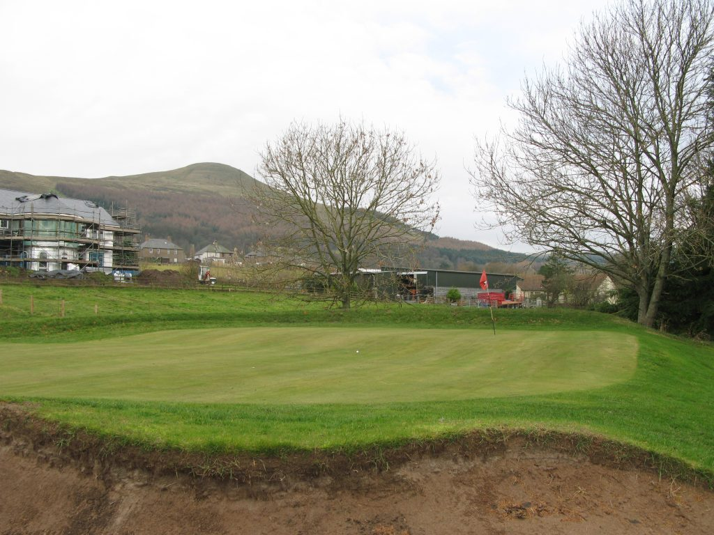 8th at Falkland, the only 2 tier green on the course